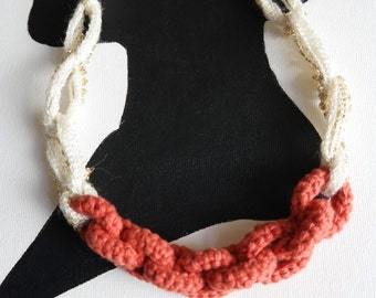 Crocheted Chain Statement Necklace