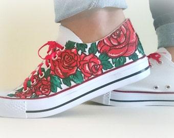 "Sneakers ""Roses"""