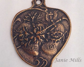 Medal Bronze  with Twin hearts