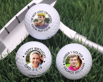 3 pcs Your Photo Personalized Golf Balls - Each golf balls will have the same photo/personalization (MIC40)