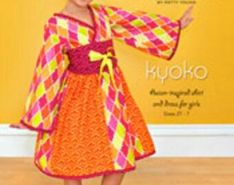 ModKid - Kyoko - Paper Sewing Pattern for Kimono Style Dress and tunic