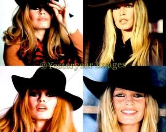 Vintage BRIDGET BARDOT Photos - Printable Digital Images - Collage Sheets - Instant Download - 3 PNG Files 4x4. 2x2. 1x1