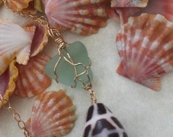 hawaiian cone shell necklace/bracelet