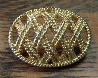 Italian Princess Gold Tone Brooch