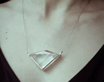"""Crystal Necklace """"Vento gelido"""""""