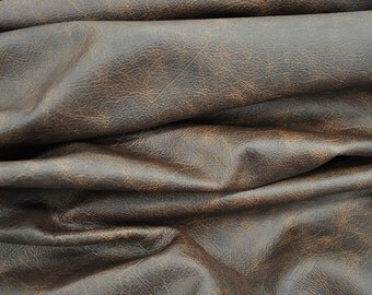 Brown Leather Hide Upholstery Whole Full Cow Hide 45 Square Feet