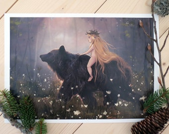 Print - Karhu, the bear King of the forest