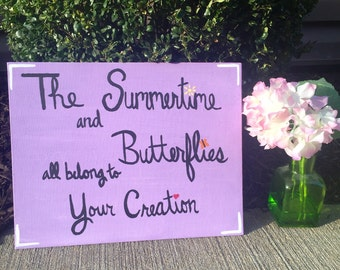 One Direction Canvas - The Summertime and Butterflies all belong to Your Creation