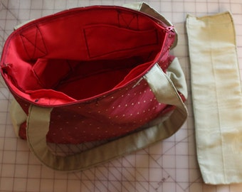 "Handmade ""Strawberry"" Purse/ Tote, Red and green"