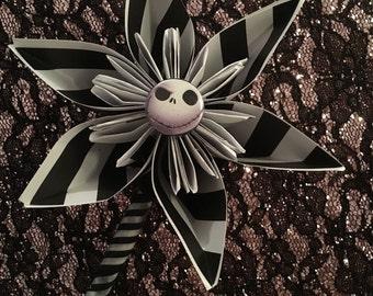 Nightmare before christmas paper flower boutineer