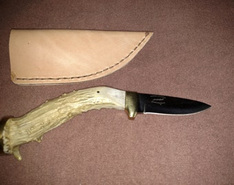 Handmade Antler knife and sheath