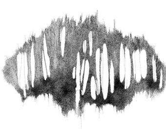 Abstract Stippling Art - Original pen & ink drawing