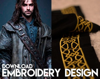 Kili Shirt embroidery design for cosplay costume