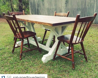 Fancy X Farmhouse Table