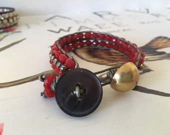Gems and Red Bracelet