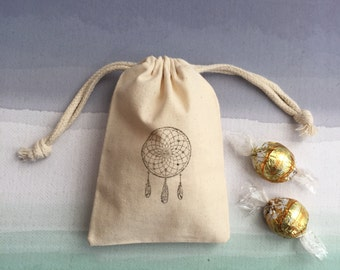 10 Dream Catcher Favor Bags - Birthday Favor Bags - Wedding Favor Bags - Gift Bags - Party Favors