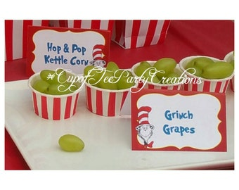 8 Dr. Suess Food Lables