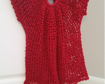 Red Summer Blouse