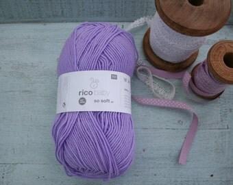 Rico Baby So Soft DK Yarn Purple 011