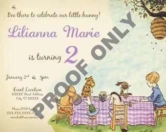 Classic Winnie the Pooh Birthday Invitation