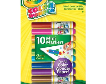 Crayola Color Wonder-10 mini markers