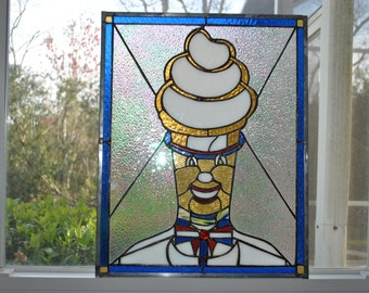 Mr.Softee stained glass window