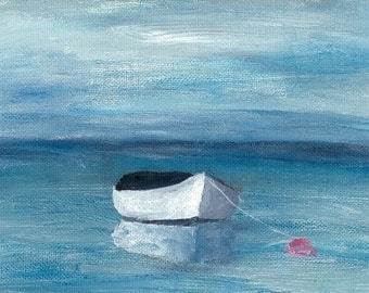 print of a row boat made from my acrylic original painting.
