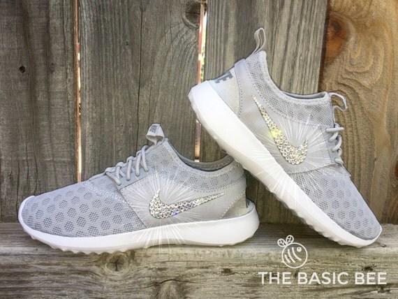 ba8394d359da Swarovski Nike Shoes Bling Nike Juvenate Grey by THEBASICBEESHOP new ...