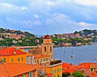 French Riviera/Villefrance/France/Sea/Colors/View/Top/Sun/Paris/Holidays/Photography/Art