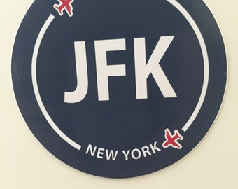 New York JFK Souvenir Airport Sticker NYC