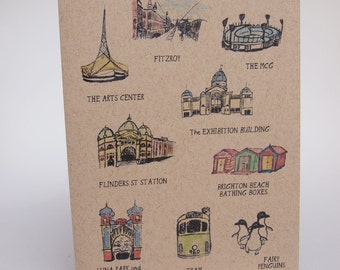 Greeting Card- Places in Melbourne