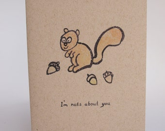 Greeting Card - I'm nuts about you