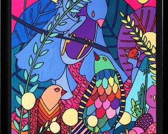 """original illustration """"birds"""" by TANG"""