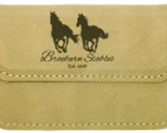 Flexible business card holder