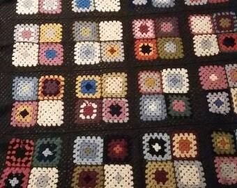 A beautiful colorful woollen blanket