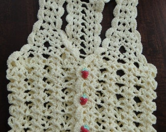 Crochet baby vest 3-6 month