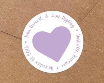 Custom Save the Date Stickers