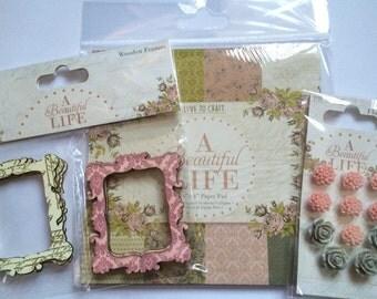Scrapbooking Paper + Embellishments
