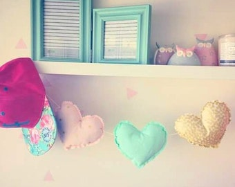 Bunting - Glitz love hearts