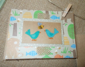 Woodland Creatures- birds and bee- greeting cards