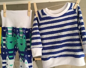 Cat pjs made to order 0 - 3years