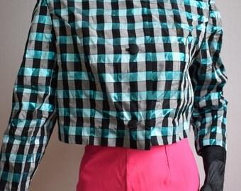 Blue 80s jacket