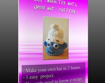 Kids character hats - Smurf pattern