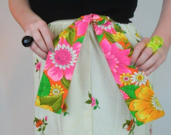 REDUCED* Vintage 1960's Floral Maxi Wrap Skirt