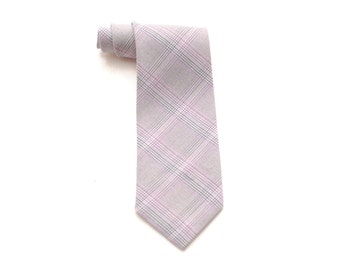 Moray - Gray Plaid Boy Necktie - Pretied or Traditional