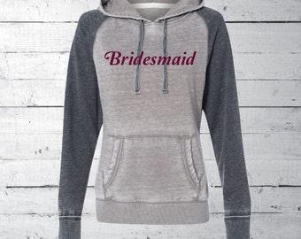 Hooded Sweatshirt, bridesmaid hoodie, custom bride, wedding hoodie, bridesmaid shirt, personalized apparel