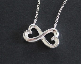 Infinity necklace, necklace, 925 sterling silver chain necklace, infinity chain, infinity, gift for women