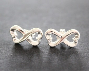 Infinity earrings, Stud Earrings, 925 Sterling Silver earrings, infinity earing, infinity Stud Earrings, gift for women