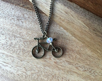 Heart Bike Necklace