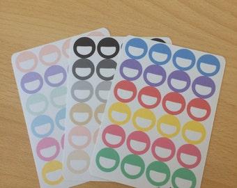 Round Label half-circle Planner Stickers